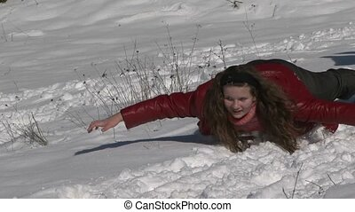 Sledging With A Snow Slide