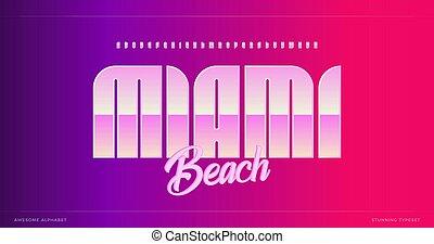 Sleek modern alphabet. Miami stunning font, minimalist type for modern futuristic logo, headline poster, creative lettering and modern typography. Minimal style letters, vector typographic design