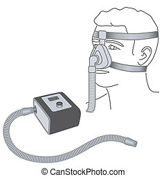 Sleep Apnea, CPAP, Nose Mask - CPAP machine with flexible ...