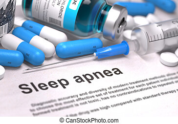 Sleep Apnea Diagnosis. Medical Concept. - Sleep Apnea - ...