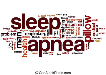 Sleep apnea word cloud concept with insomnia snore related...