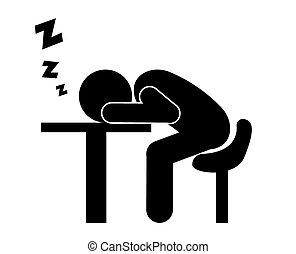 Sleep design. - Sleep design over white background, vector...