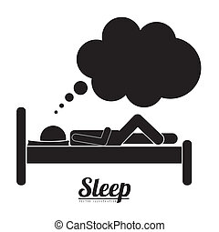Sleep design over white background, vector illustration
