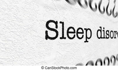 Sleep disorder concept