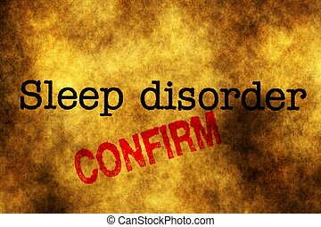 Sleep disorder confirm stamp