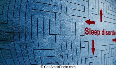 Sleep disorder maze concept