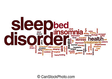 Sleep disorder word cloud concept