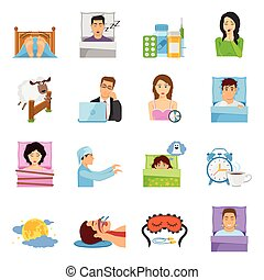Sleep Disorders Icon Set