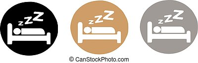 sleep icon isolated on color background