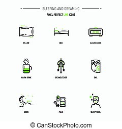 Sleep icon set