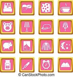 Sleep icons pink