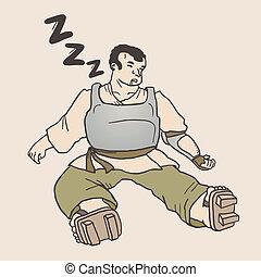 Sleep man - Creative design of sleep man