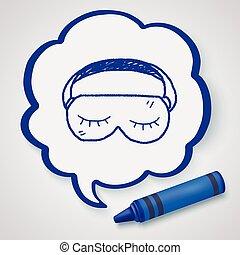 sleep mask doodle