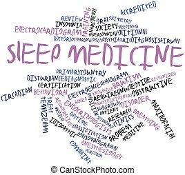 Sleep medicine - Abstract word cloud for Sleep medicine with...