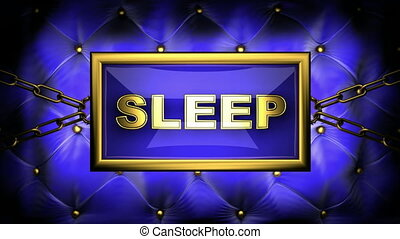 sleep  on velvet background