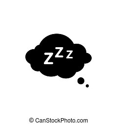 Sleep Rest icon in flat style. Sleep symbol for your web site design, logo, app, UI Vector