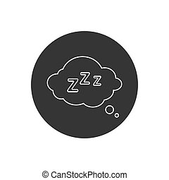 Sleep Rest line icon in flat style. Sleep symbol for your web site design, logo, app, UI Vector