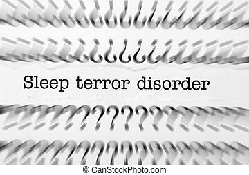 Sleep terror disorder