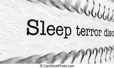 Sleep terror disorder