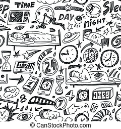 Sleep time - seamless backgound