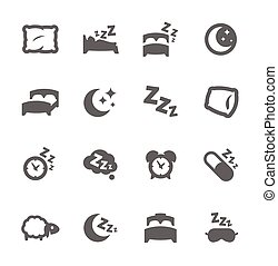 Sleep Well Icons - Simple Set of Sleep Related Vector Icons ...