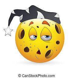 Sleepily Smiley Expression Icon
