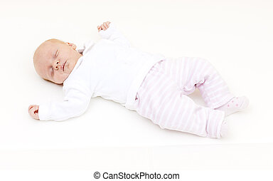 sleeping a one month old baby girl