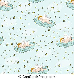 sleeping angel on the cloud