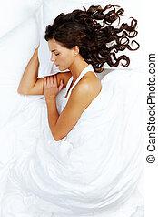 Sleeping babe - Portrait of a young girl sleeping