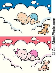 Sleeping Baby in Diaper