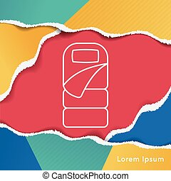 Sleeping bag line icon