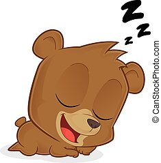 sleeping bear vector clipart illustrations 2 033 sleeping bear clip rh canstockphoto com brown bear sleeping clipart brown bear sleeping clipart