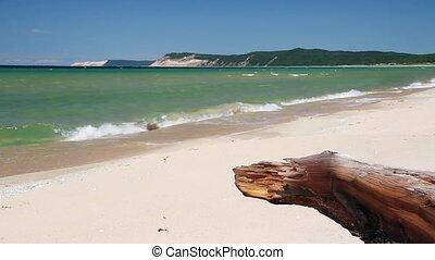 Sleeping Bear Dune Surf Loop - Loop features waves breaking...