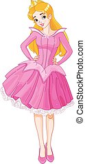 Sleeping Beauty - Illustration of beautiful girl dressed...