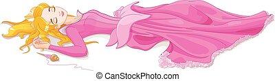 Sleeping Beauty - Illustration of beautiful girl sleeping