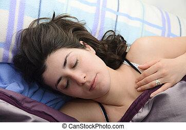 Sleeping beauty girl.