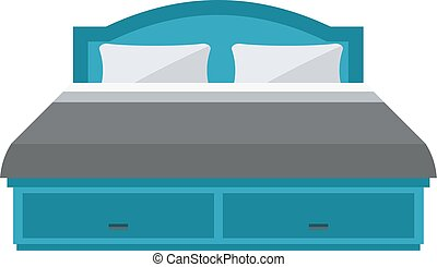 Sleeping bed vector. - Exclusive sleeping bed furniture...