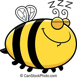 Sleeping Cartoon Bee