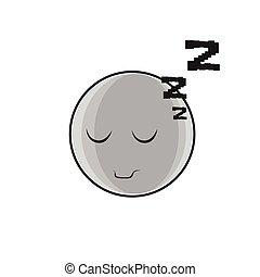 Sleeping Cartoon Face Expression People Emoticon Emoji