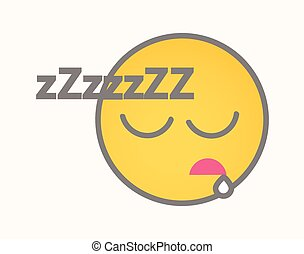 Sleeping - Cartoon Smiley Vector