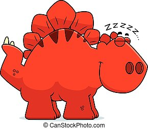 Sleeping Cartoon Stegosaurus