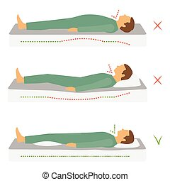 sleeping correct health body position