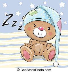 Sleeping cute Teddy Bear