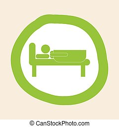sleeping design - sleeping graphic design , vector...