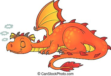 Sleeping dragon theme image 1