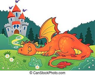 Sleeping dragon theme image 4