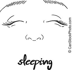sleeping face draw