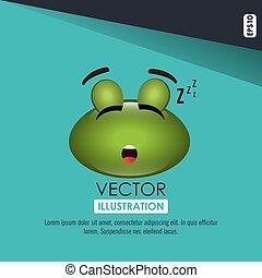 sleeping frog design