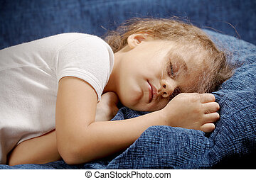 Sleeping girl closeup