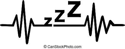 Sleeping heartbeat line
